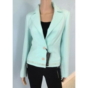 Valentino Light Aqua Blue Jacket Blazer French 2